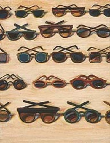 "Wayne Thiebaud's ""Five Rows of Sunglasses"""
