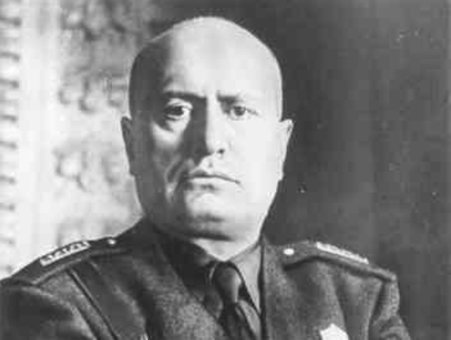 benito mussolini timeline October: benito mussolini, leader of the italian fascist party, seizes power in italy  and runs the country using authoritarian power and right-wing policies 1923.