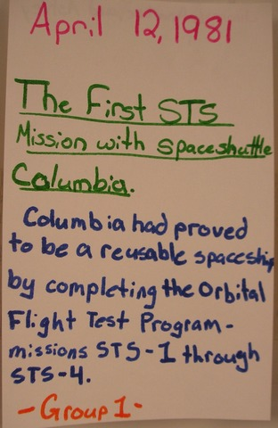 The first STS mission wirh Space Shuttle Columbia