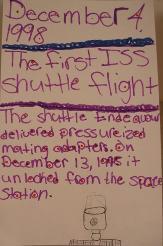 The First ISS space shuttle flight
