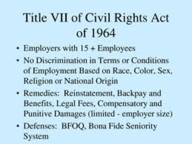 an analysis of the topic of the civil rights act of 1964 The civil rights act of 1964 is federal civil rights legislation that prohibits discrimination in numerous settings including: employment, education, voting, and public accommodations.