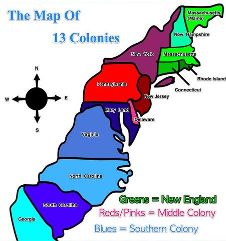 what are the 13 colonies in order
