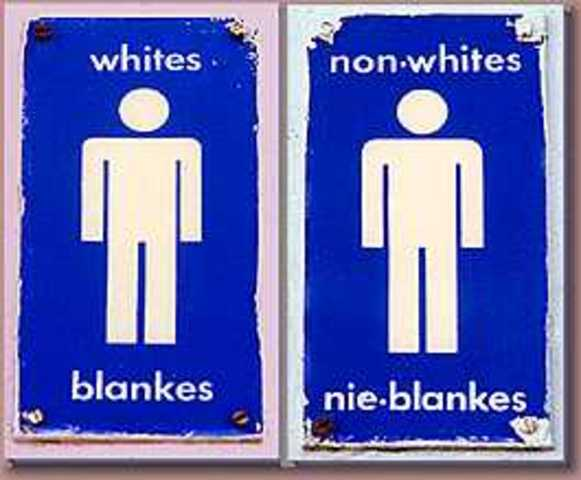 the origin and history of the discrimination of non whites in south africa Discrimination is to show favour, prejudice or bias for or against a person on any arbitrary grounds, for example on the basis of race, gender, sex, pregnancy, marital status, family.
