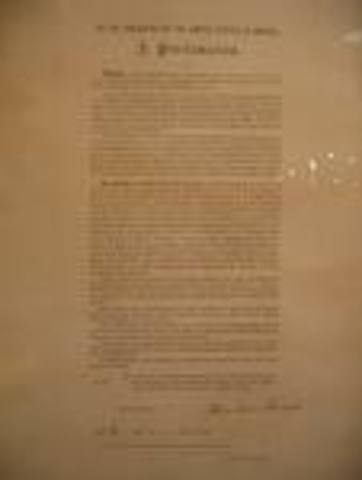 Emancipation proclamation date in Perth