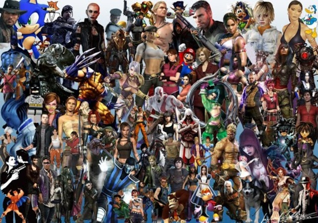 Video Game Character Collage Wallpaper The History of ...