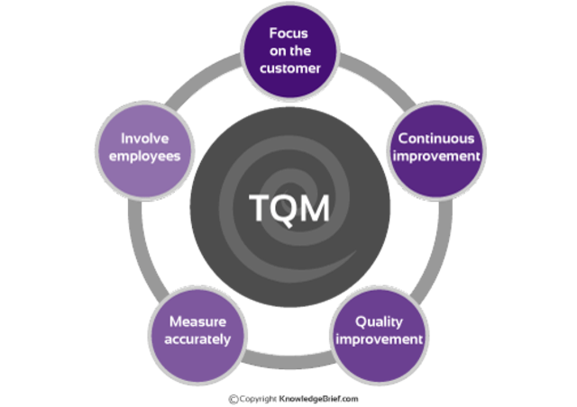 a history of total quality management in the business industry Total quality management (tqm) is a philosophy aimed at improving business as a whole some of the benefits lie in the continuous improvement of processes and.