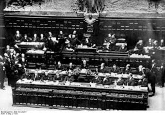 Mussolini's election in parliament
