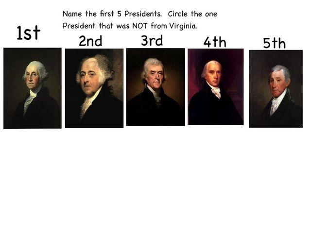 First Five Presidents timeline | Timetoast timelines