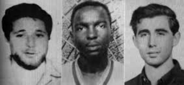 Murder of cIvil rIghts workers in Mississippi