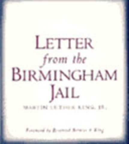 a letter from birmingham jail by martin luther king jr