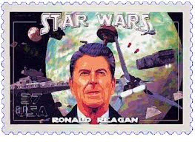 a look at president reagans strategic defense initiative Start studying us history 2 cumulative exam help  the nickname for president reagan's strategic defense  president bush's major education initiative in.