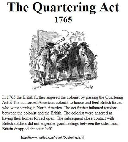The Quartering Act of 1765