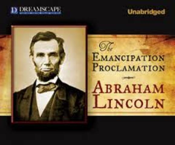 abraham lincoln issued the emancipation proclamation The emancipation proclamation, or proclamation 95, was a presidential proclamation and executive order issued by us president abraham lincoln on january 1, 1863 it changed the federal legal status of more than 3 million enslaved people in the designated areas of the south from slave to free.