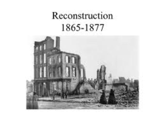 a look at the reconstruction self destruction after the civil war The civil war, emancipation, and reconstruction on the the destruction of states did not use its enormous armies after the civil war to seize.