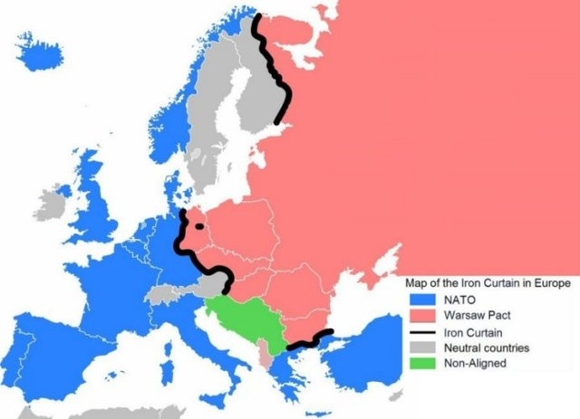 a history of the iron curtain of europe Churchill's iron curtain heard round the world that went down in history as the iron curtain states of central and eastern europe warsaw.