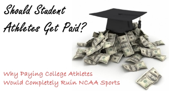 "essay paying college athletes There has been major discussion recently if college athletes should or shouldn't be paid while they are in school the first thing opponents say is, ""they're already getting a scholarship that's more than anybody else don't be greedy"" fine, let's not be greedy and look at how much a scholarship is actually."