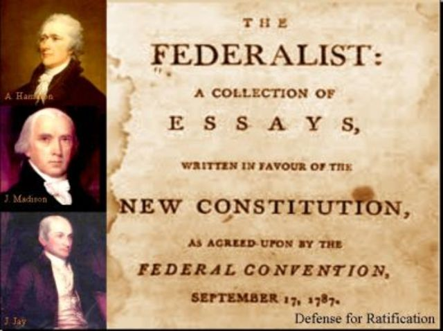 name two authors of the federalist papers