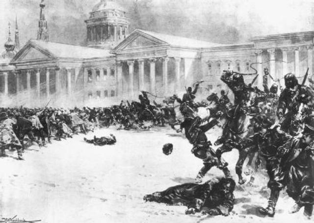 bloody sunday 1905 Lecture 2 describes russian revolutions of 1905 and 1917 and the place and  role of the  bloody sunday and the 17th october manifesto.