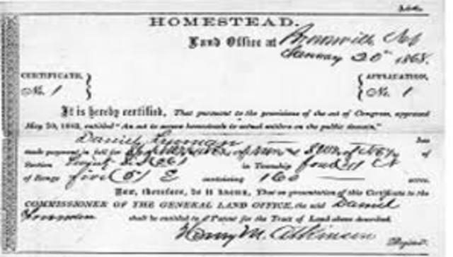 an introduction to the history of the homestead act This packet provides materials that relate to the history of homesteading in  the  packet consists of four major thematic elements: introduction and legislative   for the settlement of public land under the homestead act under the terms of this .