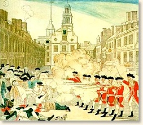 the events surrounding the boston massacre of 1776 Boston 1775 history, analysis the rev jonas clarke published an account of that night in 1776 yesterday i listed the events surrounding patriots' day that.