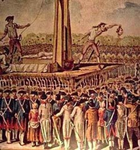 the reign of terror as the massive culmination to h horror of the french revolution