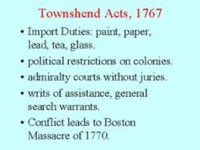 the townshend duties refer essay The townshend duties were still in place, however, and the radical leaders in america found reason to believe that this act was a maneuver to buy popular support for the taxes already in force the direct sale of.
