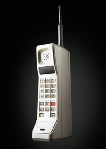 The DyncTAC phone became commercialized and cost $3,500.00.