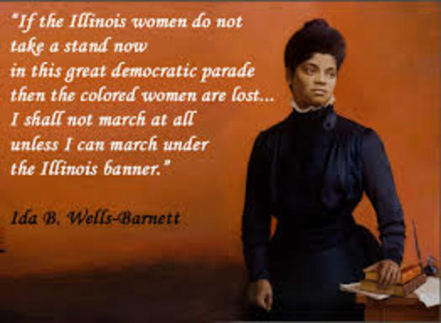 "ida b summary Ida b wells was known nationally and internationally as a ""crusader for justice"" she traveled throughout the united states and foreign countries raising."
