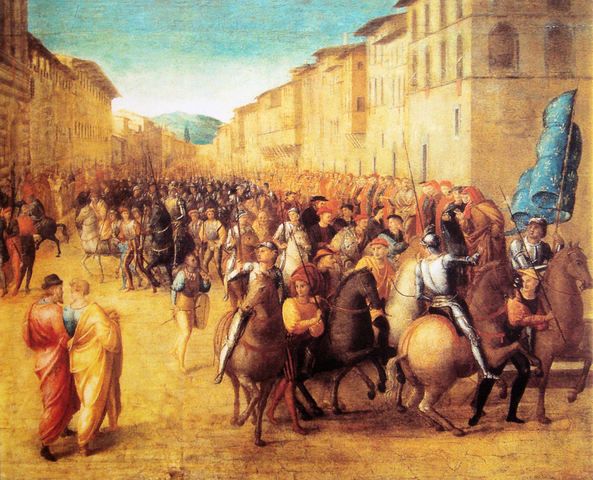 the account of events during the 1494 invasion of italy by french king charles viii The coalition formed against the french invasion of 1494-98 during the minority of charles viii in italy, king charles viii died on.