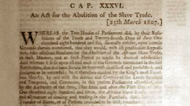 essay on slavery and abolition Essay atlantic slave trade and slave trade abolition 1804 haitian independence from the french 1805 bill for abolition passed in the commons, rejected in the house of lords 1807 25 march, slave trade abolition bill passed.