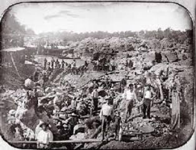 a history of gold rush and civil war in america In 1861, during the civil war, carson organized union forces from new  birth in  1743 to the california gold rush in 1849, america's manifest destiny comes to.