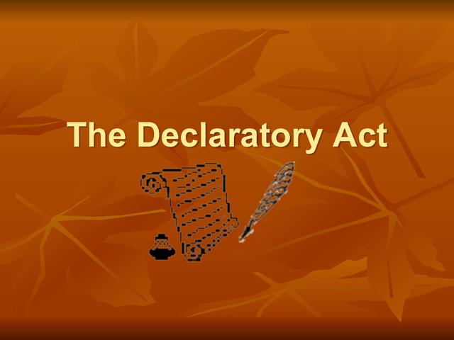 Declaratory Act Road to Revolution tim...