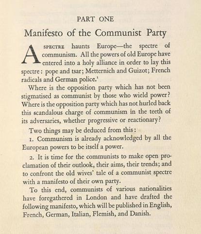 """reaction essay communist manifesto Essay on communist manifesto by karl marx download essay on communist manifesto by karl marx it all started when he wrote his book """"communist manifesto."""