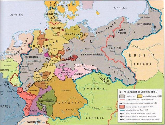 German Unification Timeline Timetoast Timelines - Zollverein germany map