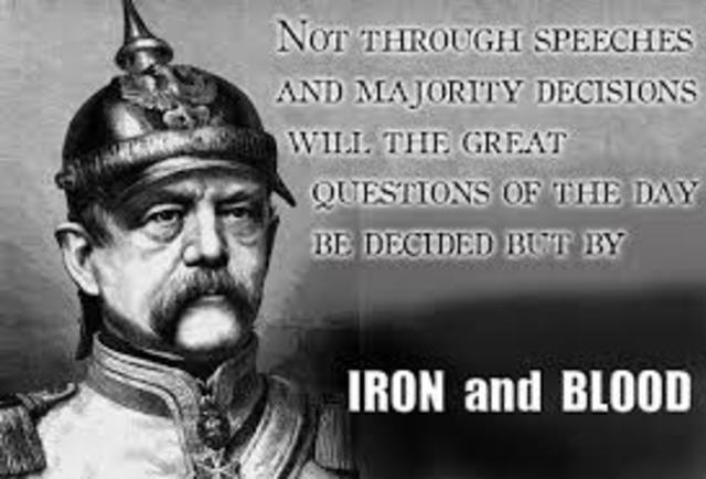 bismarck policy of blood and iron Otto von bismarck, excerpt from the 1862 blood and iron speech source: excerpts from bismarck's blood and iron speech (1862) copied.