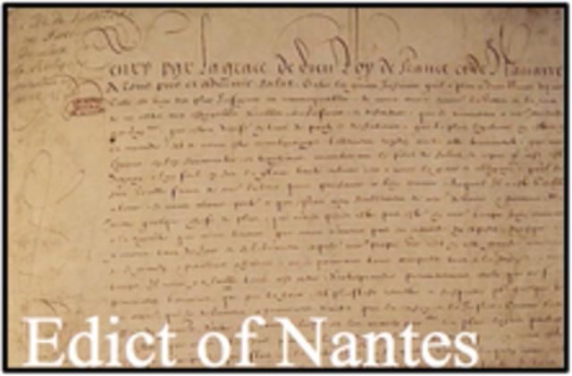 the edict of nantes five essays and a new translation Ap® european history 2010 scoring guidelines • the essay is well balanced zwingli was among the most outspoken critics of the new anabaptist movement as a.