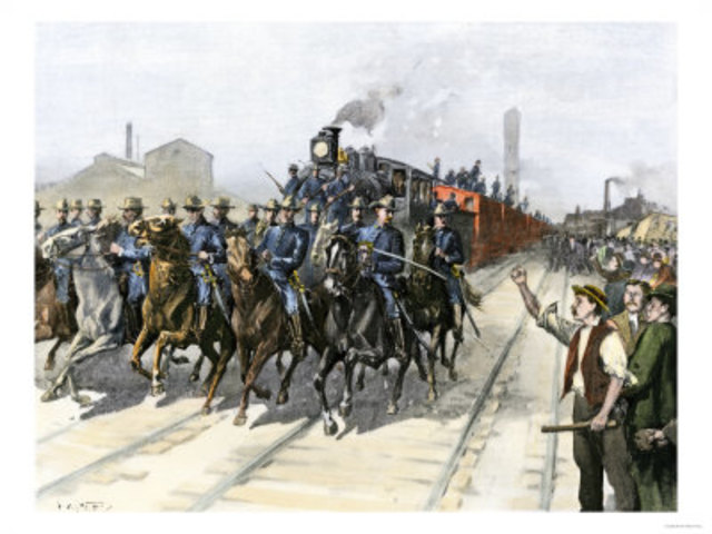 the pullman strike Introduction to the pullman strike and the crisis of the 1890's abstract the strike of pullman carshop employees and the subsequent boycott that disrupted rail traffic throughout the.