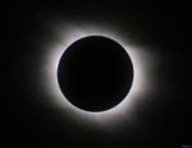 Final stage of the eclipse.