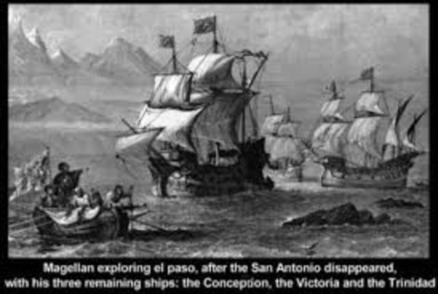 One of Magellan's Ships land in Spain