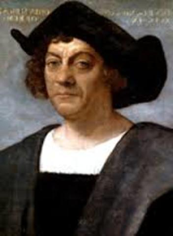 Christopher Columbus left for Spain.