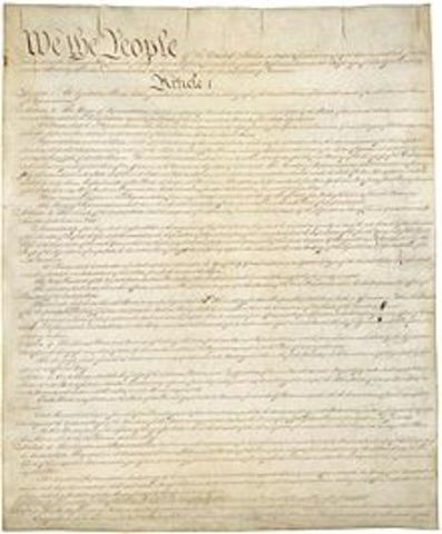 US Constitution is ratified