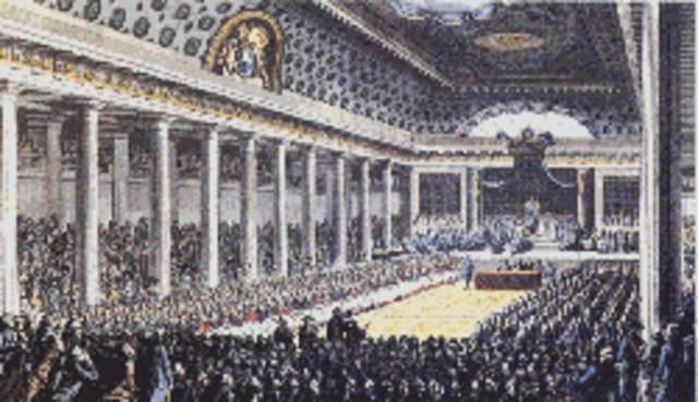 The meeting of the Estates-General opened at Versailles