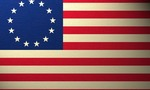 Revolutionary war flag  landscape