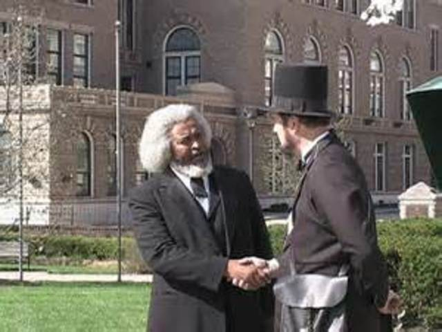 frederick douglas meets with president lincoln