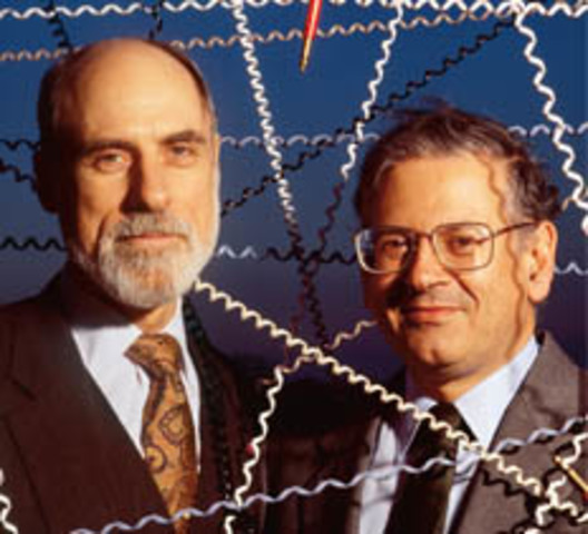 "Vinton Cerf and Bob Kahn publican ""AProtocol for Packet Network Intercommunication"""