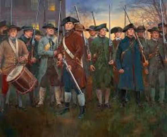 Start of Revolutionary War