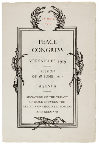 The Treaty of Versaillies Signed
