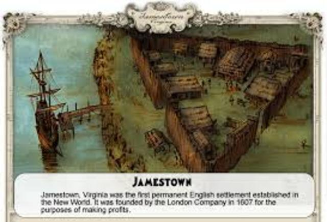 First Permanent English settlement in North America is established a Jamestown, Virginia