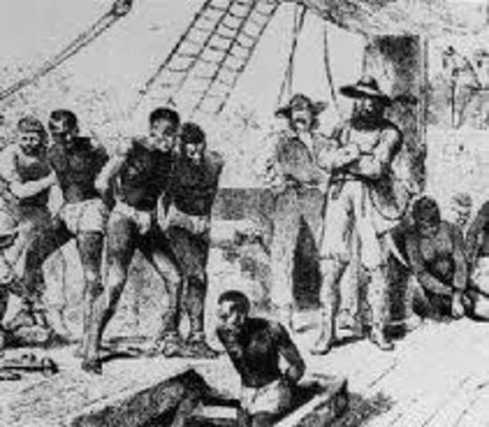 First slaves brought to the new world