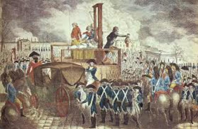 King Louis XVI is Executed.